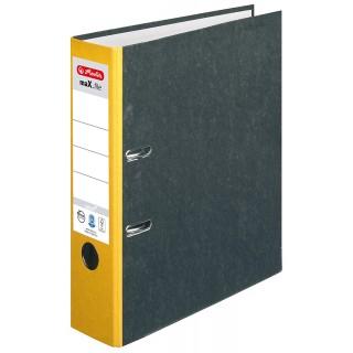 HERLITZ Ordner maX.file nature A4 7,5 cm gelb