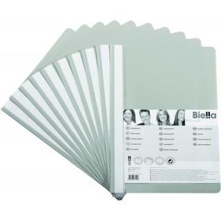 BIELLA Schnellhefter 1702001 10 Stück A4 aus Kunststoff grau