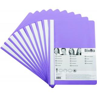 BIELLA Schnellhefter aus Kunststoff A4 10 Stück violett