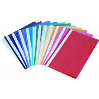 BIELLA Schnellhefter 1702910 10 Stück A4 aus Kunststoff mehrere Farben