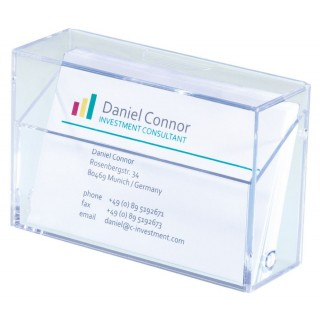 SIGEL Visitenkartenbox VA110 glasklar