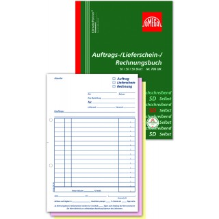 OMEGA Auftragsbuch 100 Blatt A5