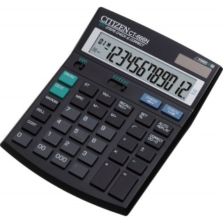 CITIZEN Taschenrechner CT666N 12-stellig schwarz