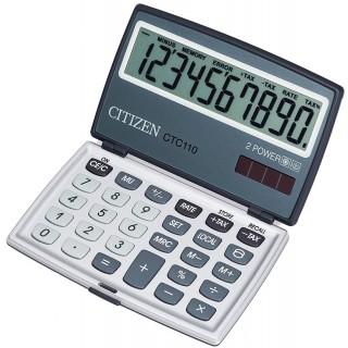 CITIZEN CTC-110 Taschenrechner mit klappbarem Display 10-stellig silber