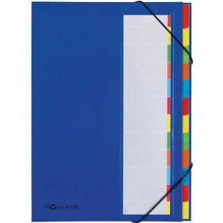 PAGNA Ordnungsmappe 44133 A4 12-teilig blau