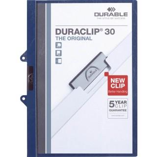 DURABLE Duraclip Klemmmappe für 30 Blatt A4 dunkleblau