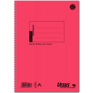 URSUS Spiralheft A5 48 Blatt liniert