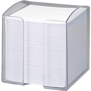 FOLIA Zettelbox befüllt 9,5 x 9,5 x 9,5 cm 700 Zettel weiß