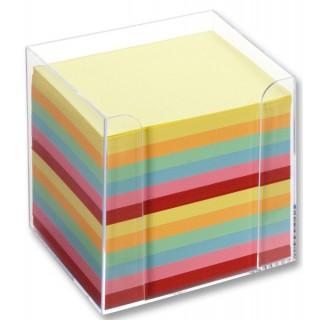 FOLIA Zettelbox 9902 9,5 x 9,5 x 9,5 cm befüllt 700 Zettel bunt
