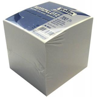 FOLIA Würfelblock 9 x 9 cm geleimt weiß