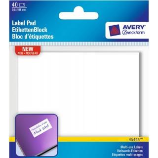 AVERY ZWECKFORM Etiketten-Block 10,1 x 5 cm 40 Stück weiß