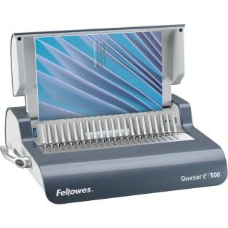 FELLOWES Plastikbindemaschine Quasar-E 500 für elektrisches Stanzen anthrazit