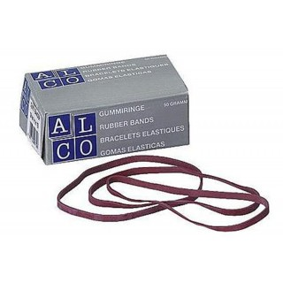 ALCO Gummibänder 50g 150 x 4 mm rot
