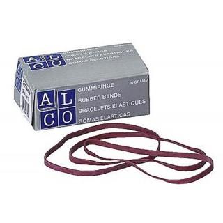 ALCO Gummibänder 500g 200 x 6 mm rot