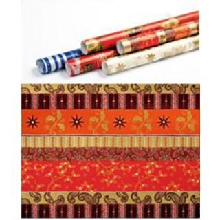 Weihnachts-Geschenkpapier Mistelzweig 5 m rot