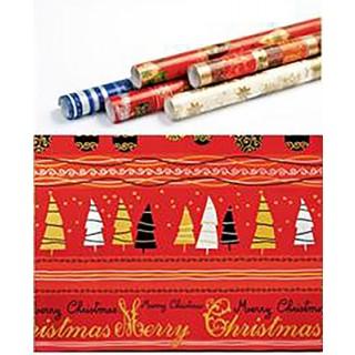 Weihnachts-Geschenkpapier Merry Christmas 5 m rot