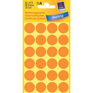 AVERY ZWECKFORM Markierungspunkte 3173 96 Stück ø 18 mm orange