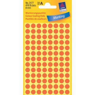 AVERY ZWECKFORM Markierungspunkte 3177 416 Stück ø 8 mm rot