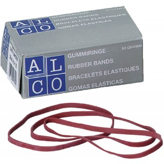 ALCO Gummiband 50 g 100 x 5 mm rot