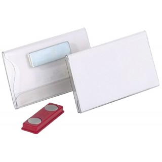 DURABLE Namensschild 8116  4 x 7,5 cm mit Magnet 25 Stück transparent