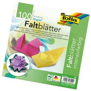 FOLIA Faltblätter 20 x 20 cm 100 Blatt mehrere Farben