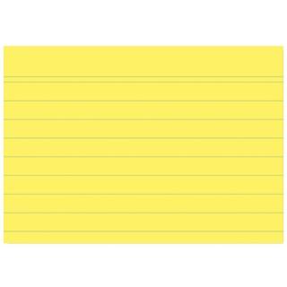 OMEGA Karteikarten 100 Stück A7 quer gelb