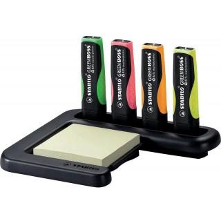 STABILO Textmarker 6070 Green Boss  4 Stück 2-5 mm