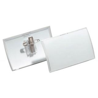 DURABLE Namensschild 8211 4 x 7,5 cm mit Clip 25 Stück transparent