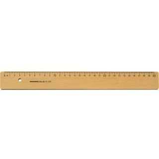 ROMULD Holzlineal Buche natur 30 cm