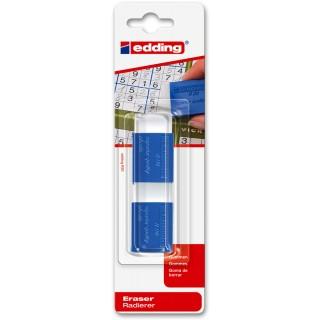 EDDING Radierer 2 Stück blau/weiß