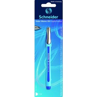 SCHNEIDER Slider Memo Kugelschreiber XB im Blister blau