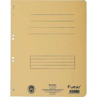 EXACOMPTA Ösenhefter aus Recyclingkarton A4 gelb