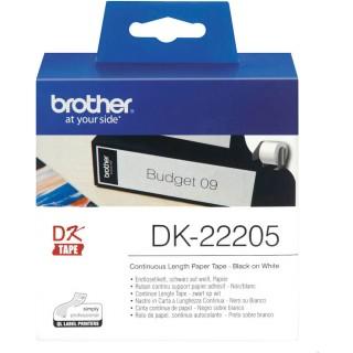 BROTER Etikettenrolle DK22205 62 x 30,48 mm weiß