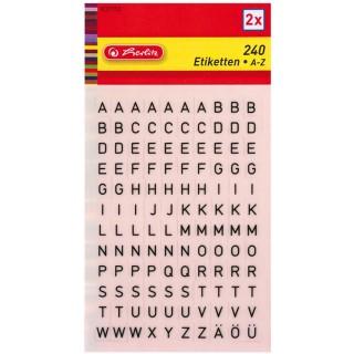HERLITZ Buchstaben-Etiketten A-Z selbstklebend schwarz
