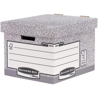 FELLOWES Standard Aufbewahrungsbox mit Archivdruck grau