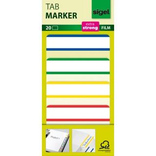 SIGEL Tab Marker 20 Blatt 4 Farben