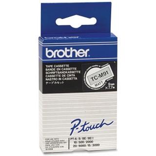 BROTHER Schriftband P-Touch 9 mm x 7,7 m schwarz auf transparent