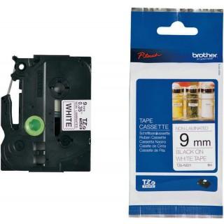 BROTHER P-touch TZE-N221 9 mm x 8 m  schwarz-matt auf weiß