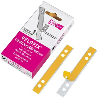 VELOFLEX Lochverstärkungsstreifen Velofix 50 Stück transparent