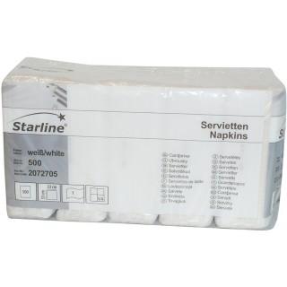 STARLINE Servietten 500 Blatt 1-lagig weiß