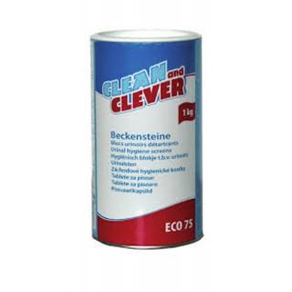 CLEAN & CLEVER Eco 71 Beckensteine 1 kg blau