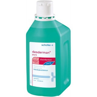 DESDERMAN Pure Handdesinfektion 0,5 Liter grün