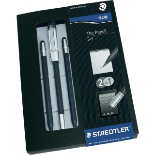 STAEDTLER Geschenkset 3 Bleistifte mit Stylus Pen schwarz