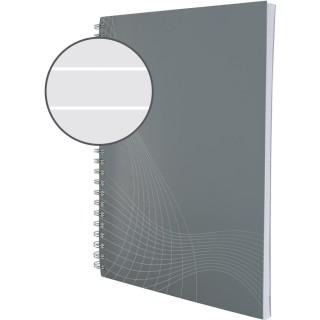 AVERY ZWECKFORM Notizbuch notizio 7010 mit Kartoncover DIN A5 80 Blatt 90g/m² liniert grau