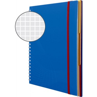 AVERY ZWECKFORM Notizbuch notizio 7037 mit Kunststoffcover DIN A4 90 Blatt 90g/m² kariert blau