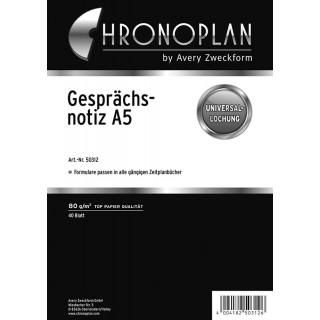 CHRONOPLAN Kalendereinlage 50312 Gesprächsnotiz A5 40 Blatt weiß