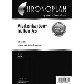 CHRONOPLAN Visitenkartenhülle 50384 3 Stück A5 transparent