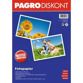 PAGRO Fotopapier 40 Blatt A4 270 g/m² weiß