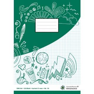 PAGRO Heft A4 20 Blatt kariert grün