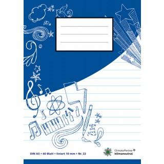 PAGRO Heft A5 40 Blatt liniert blau